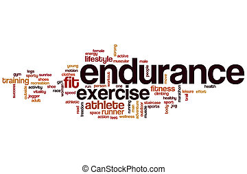 endurance, mot, nuage, concept