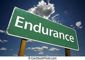 endurance, panneaux signalisations