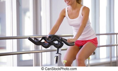 Endurance - Happy athlete enhancing her endurance while...