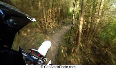 Enduro bike rider POV