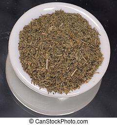 eneldo, secado, mala hierba