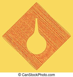 Enema sign. Vector. Red scribble icon obtained as a result...
