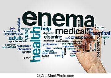Enema word cloud