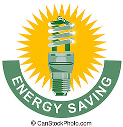 energía, ahorro, etiqueta, bombilla