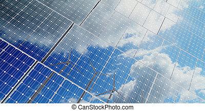 energía, ahorro, plano de fondo