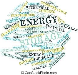 energía, almacenamiento