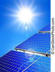 energía alternativa, solar