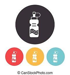 energía, bebida, icono