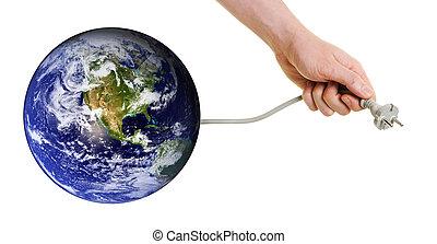 energía, buscando, planeta, fuentes, nuevo, tierra