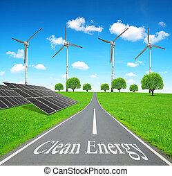 energía, concept., limpio