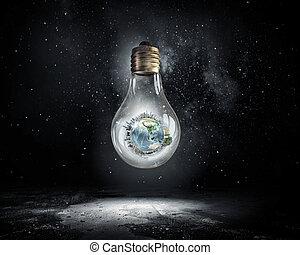 energía, concepto, ahorro