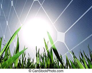 energía, concepto, solar