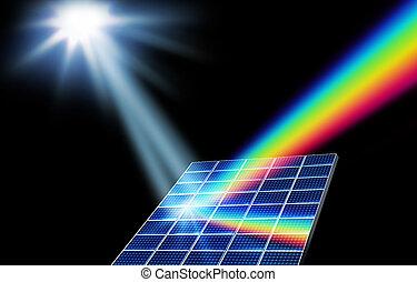 energía, concepto, solar, renovable