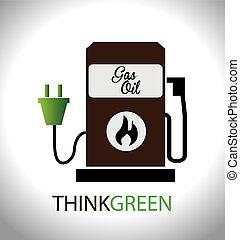 energía, diseño, illustration.