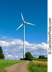 energía eólica, turbina