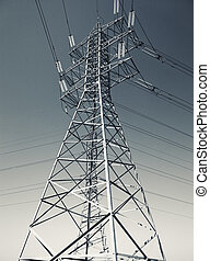 energía eléctrica, línea