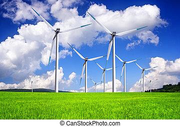 energía, global, viento