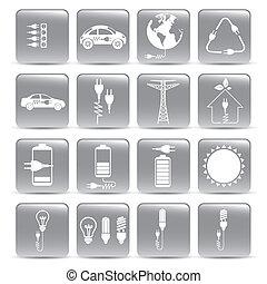 energía, iconos
