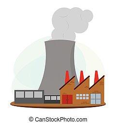 energía nuclear, industria
