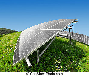 energía, paneles,  solar