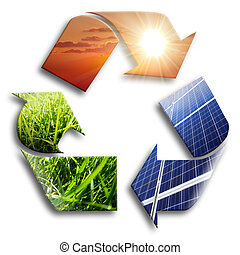 energía, recycled:, photovoltaic