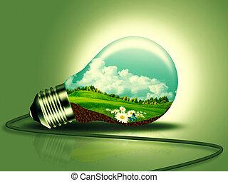 energía renovable, concepto, para, su, diseño
