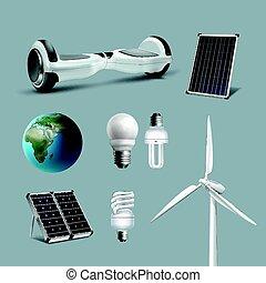 energía renovable, conjunto