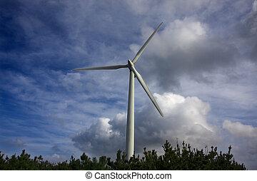energía renovable, ecología, turbina, viento