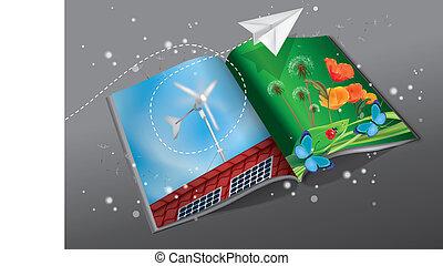 energía, revista, renovable