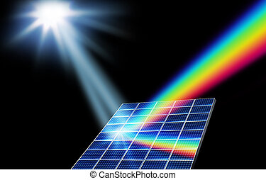 energía solar, energía renovable, concepto