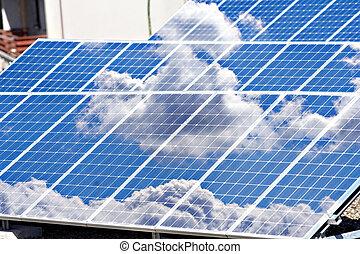 energía, solar