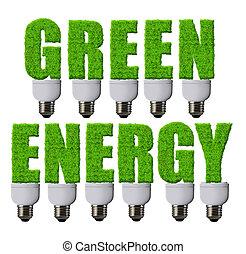 energía, verde, conceptos