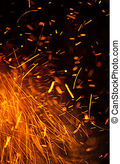 Energetic Fire Sparks Background