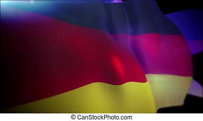 """""""Energetic German Flag in Black Backdrop"""" - """"Cheery 3d..."""