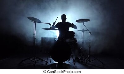 Energetic music in the performance of a professional...