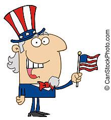 Energetic Uncle Sam Smiling