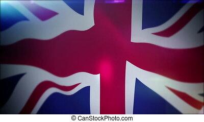 """Energetically Flapping British Union Jack"" - ""Optimistic 3d..."