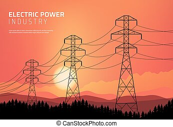 Energetics, power transmission electric line. - Energetics, ...