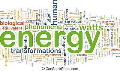 energi, begrepp, fysik, bakgrund