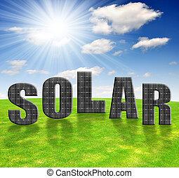 energi, paneler, sol