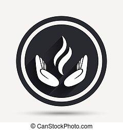 energi, räcker, underteckna, icon., driva, från, räcker, symbol.