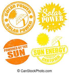 energi, sol makt, frimärken