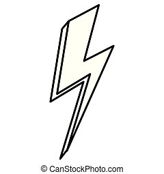 energi, tordenslag, magt, ikon