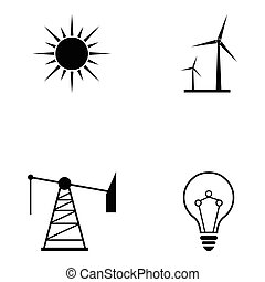 energia, állhatatos, ikon