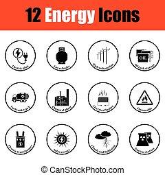 energia, ícone, jogo
