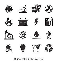 energia, ícones, jogo