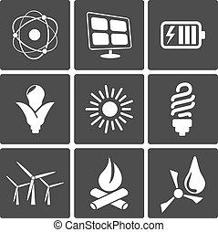 energia, ícones