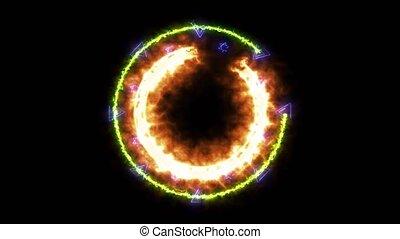 energia, absract, ogień, wszystko, moc, sześciokąt, ...