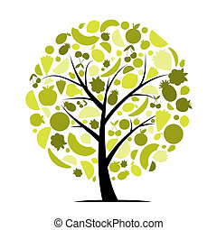energia, albero frutta, per, tuo, disegno