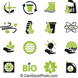 energia alternativa, ícones